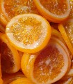 Orange confite en tranche